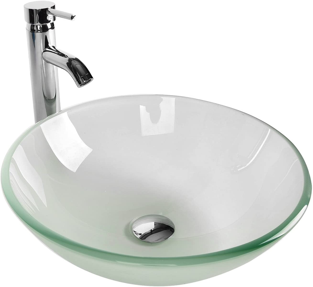 Best cost-effective: Tempered Glass Vanity Sink