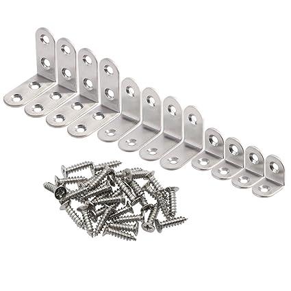 10Pcs L Shaped Stainless Steel Corner Brace Angle Bracket Support 40 x 17 x 40mm