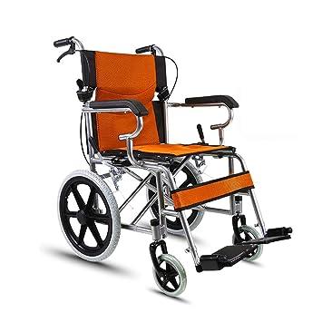 QIDI Silla De Ruedas Plegable Conveniente Ancianos Inflable Aleación De Aluminio Coche Discapacitado: Amazon.es: Hogar