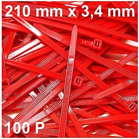Lot de 100 serre-c/âbles 300 mm x 3,6 mm pour filet dombrage Noir