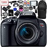 Canon EOS Rebel T7i DSLR Camera with 18-55mm Lens 20PC Accessory Bundle – Includes 32GB SD Memory Card + High Speed Card Reader + MORE