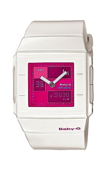 Casio Baby-G - Reloj analógico - digital de mujer de cuarzo con correa de resina blanca (alarma, cronómetro, luz) - sumergible a 100 metros: Amazon.es: ...