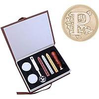 Starnearby Stamp Seal Junta Cera Retro, Alfabeto Sellos