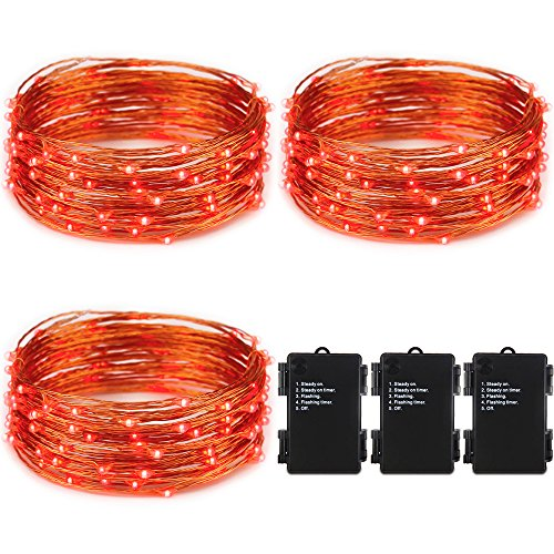 100 Count Red Led Christmas Lights - 7