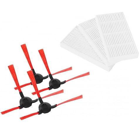 Vileda 160885 - Kit de Recambio de cepillos Laterales y filtros para Robot Aspirador VR 102/201 PetPro, Multicolor: Amazon.es: Hogar