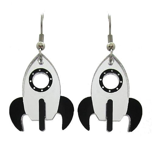 Dainty Earrings Planet Earrings Rocket Ship Studs Cartilage Studs Girls Earrings Rocket Ship Earrings in Sterling Silver Kids Earrings