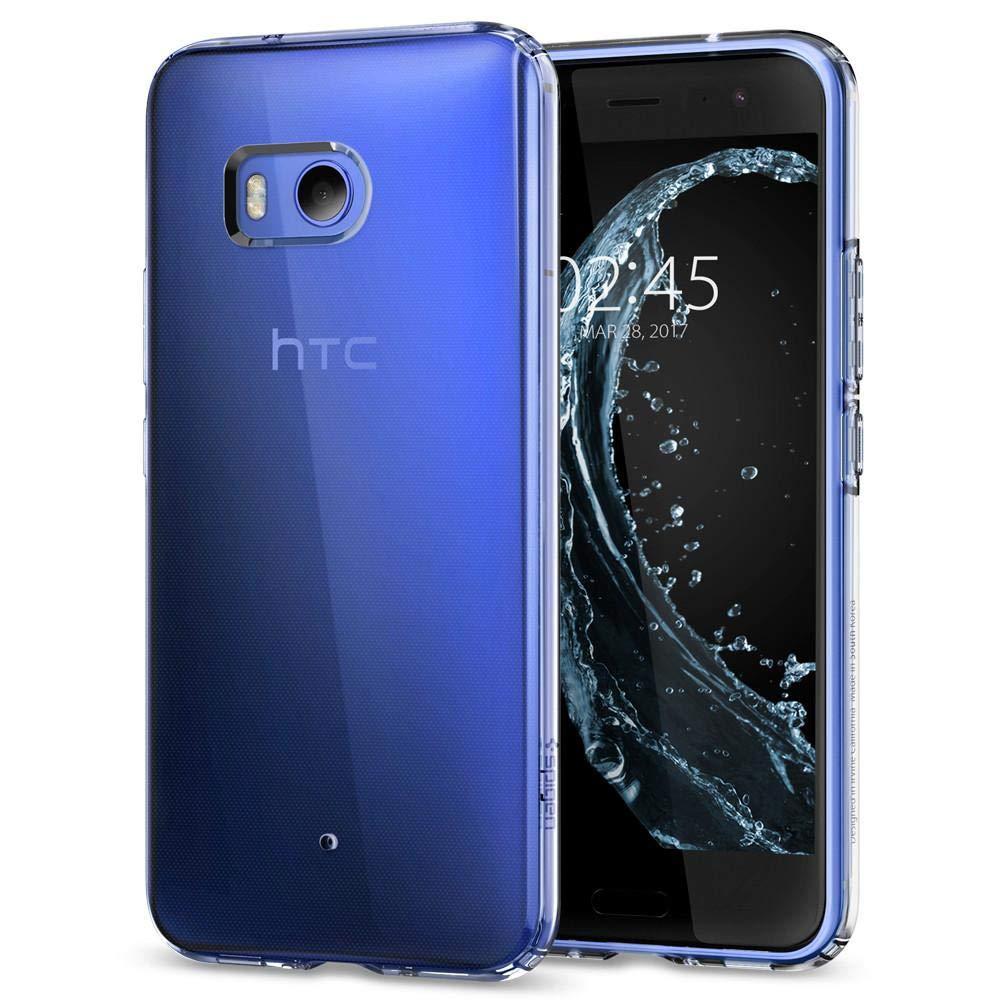 HTC U11 Hülle, Spigen® [Liquid Crystal] Soft Flex Silikon [Crystal Clear] Transparent Ultra Dünn Schlank BumperStyle Handyhülle Premium Kratzfest TPU Durchsichtige Schutzhülle für HTC U11 Case Cover Crystal Clear (H11CS21939) HTC U11 Hülle