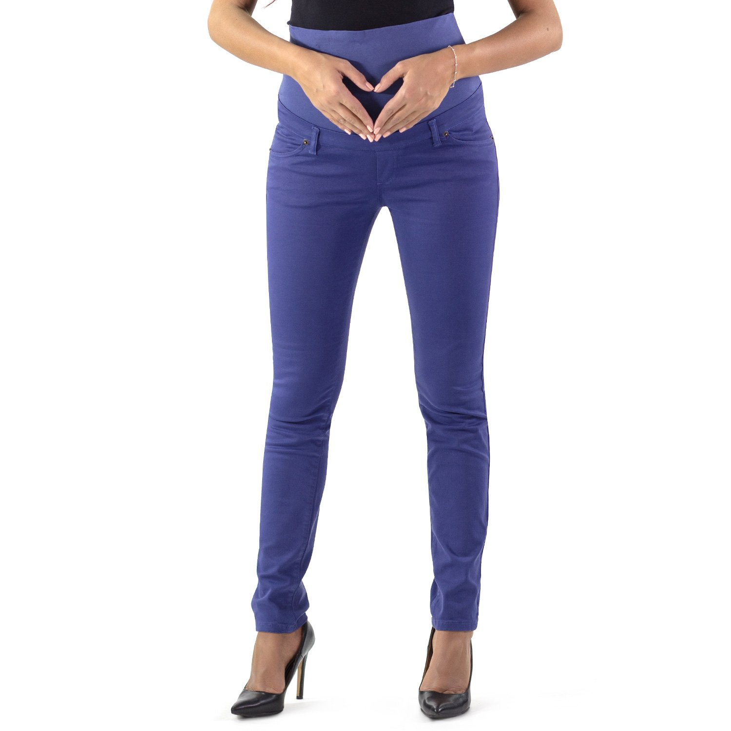 96943d3095454 MAMAJEANS - Venezia Skinny and Comfortable Maternity Pants with Real  Pockets - Made in Italy at Amazon Women's Clothing store: