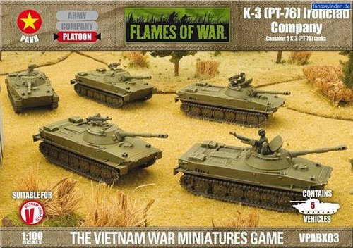 Flames Of War - K-3 (pt-76) Ironclad Company - Scale 1:100 - Vpabx03 - ()