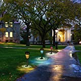Solar Garden Lights Outdoor Decorative Mosaic Glass Pathway Lights White LED Solar Landscape Lights Waterproof for Lawn Path Patio Yard Walkway