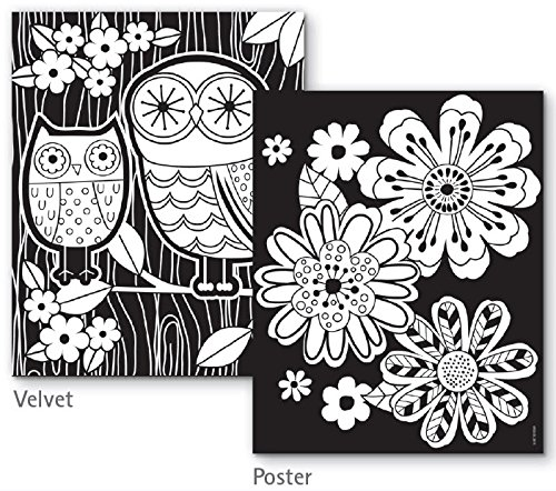 Velvet Art Coloring Posters Kids Craft Supplies Black Velvet ...
