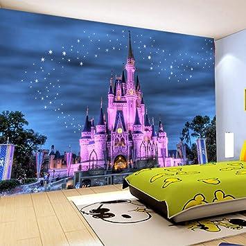 Custom 3d Photo Wallpaper Children S Room Sofa Background Wallpaper 3d Cartoon Castle Starry Sky Home Decoration Amazon Co Uk Diy Tools
