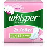 Whisper Ultra Soft Sanitary Pads - 15 count (Large)