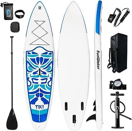 Hydro-ForceTM Lot de 10 Planches gonflables Unisexes pour Paddle Stand-Up Paddling Multicolore 106 x 30 x 4.75//3.20m x 76cm x 12cm Aqua Cruise Set