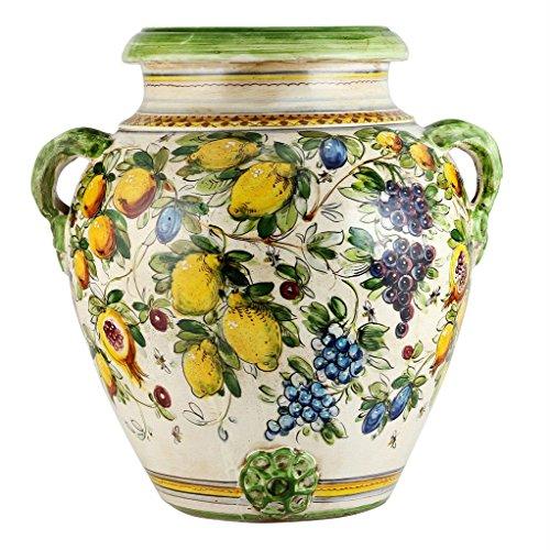 MAJOLICA TOSCANA: Orcio Urn ~ Frutta fondo Miele Design (Urns Deruta Pottery Italian)