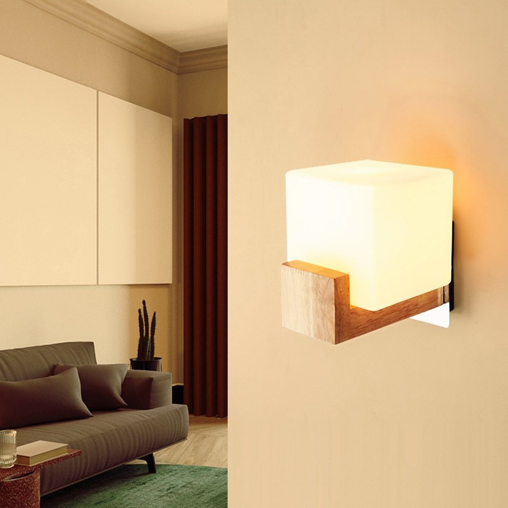 YWJWJ das Wand-Licht-Minimalist Schlafzimmer-kreatives Bett führte Lampen-Korridor-modernes Treppenhaus des hölzernen Balkons Innenbeleuchtung