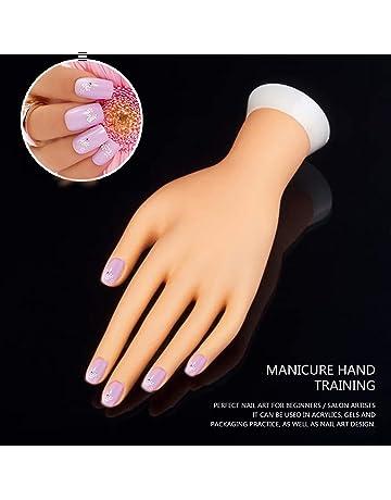 Pro práctica Nail Art Mano Suave Entrenamiento Modelo de exhibición Manos Flexible de silicona Prótesis Personal