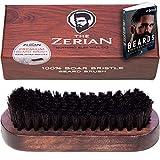 The Zerian Boar Bristle Beard Brush for Men Bundle with Beard Care E-Booklet