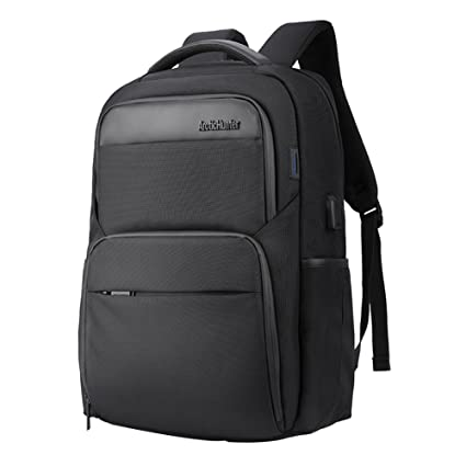 4a3b10a9237c Waterproof Laptop Backpack Rucksack - Arctic Hunter Black Backpack Fits Up  to 15.6 Inch Laptops for Travel
