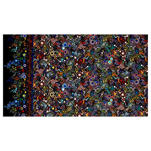 Robert Kaufman Effervescence Single Border Mod Bubbles Primary Fabric by The Yard, Primary