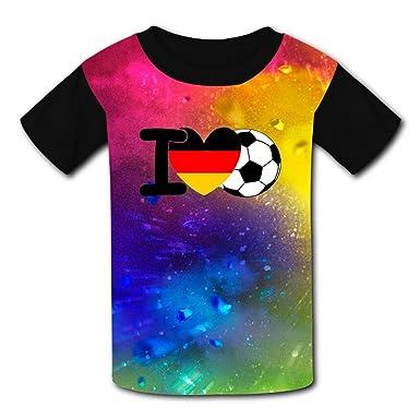 76cd1c2edf9 Amazon.com  Kids I Love Germany Soccer T Shirts Tee Shirt 3D Print Youth   Clothing
