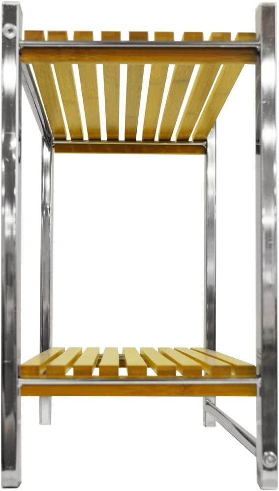 WATSONS Bamboo - Estantería de Pared para baño con toallero - Color Bambu y Plateado: Amazon.es: Hogar