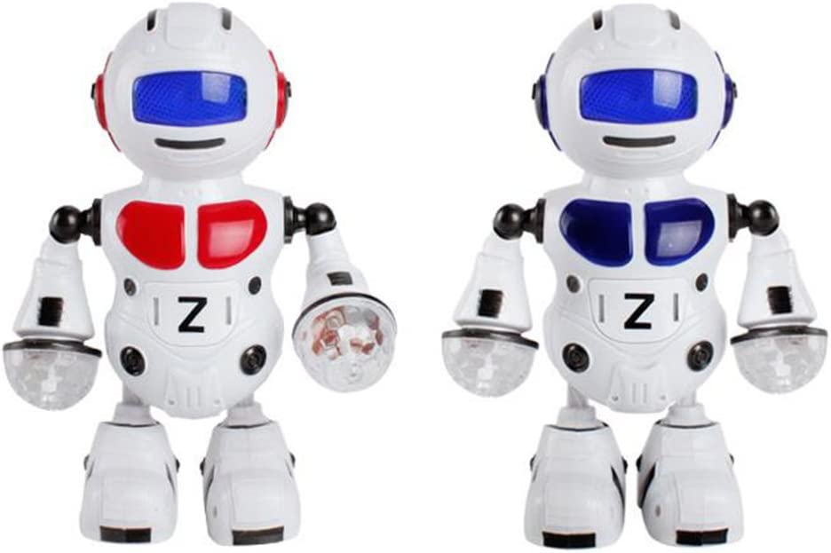 Shentesel Electronic Walking Dancing Music Light Astronaut Robot Kids Toy Xmas Gift - Random Color