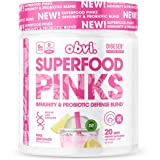 Obvi Superfood Pinks Immunity & Probiotic Defense Blend, Rich in Anti-oxidants, Enzyme Blend (Pink Lemonade)