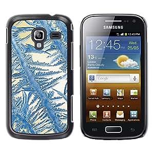 TopCaseStore / la caja del caucho duro de la cubierta de protección de la piel - Crystal Sun Blue White Winter - Samsung Galaxy Ace 2 I8160 Ace II X S7560M
