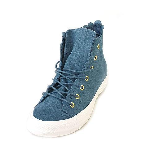 f31ac3c5f9219 Converse - Zapatillas Altas de Cuero Mujer  Amazon.es  Zapatos y  complementos