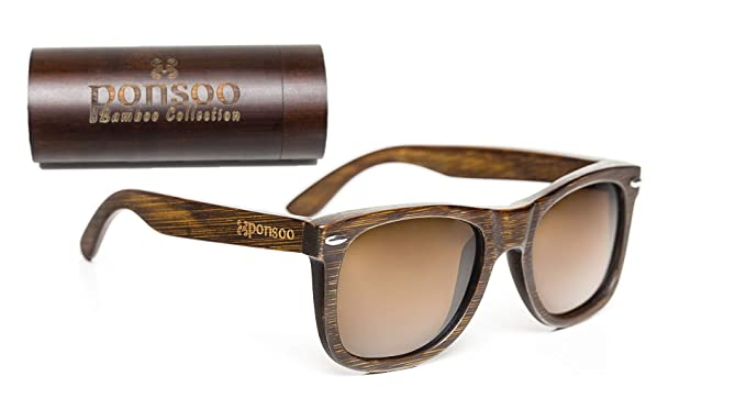 5c256cd35a Image Unavailable. Image not available for. Color  Polarized Wood Wayfarer  Sunglasses ...
