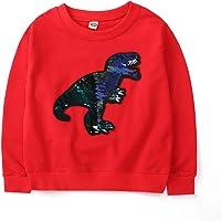 Sudadera para niños Top Manga Larga Dinosaurio cálido Jersey (3-15 años)