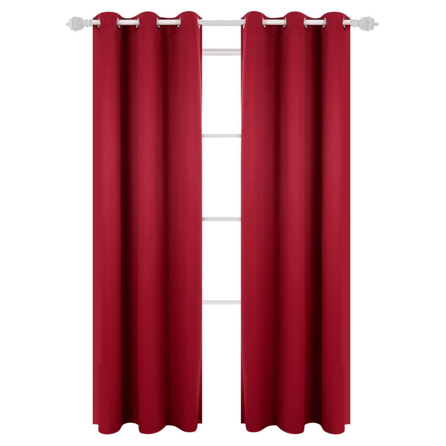 Deconovo room darkening thermal insulated blackout grommet window curtain panel for living room 42 inch