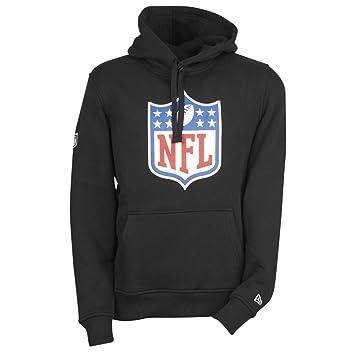 2019 authentique conception populaire design professionnel New Era Fleece Sweat à capuche - NFL LOGO SHIELD noir ...