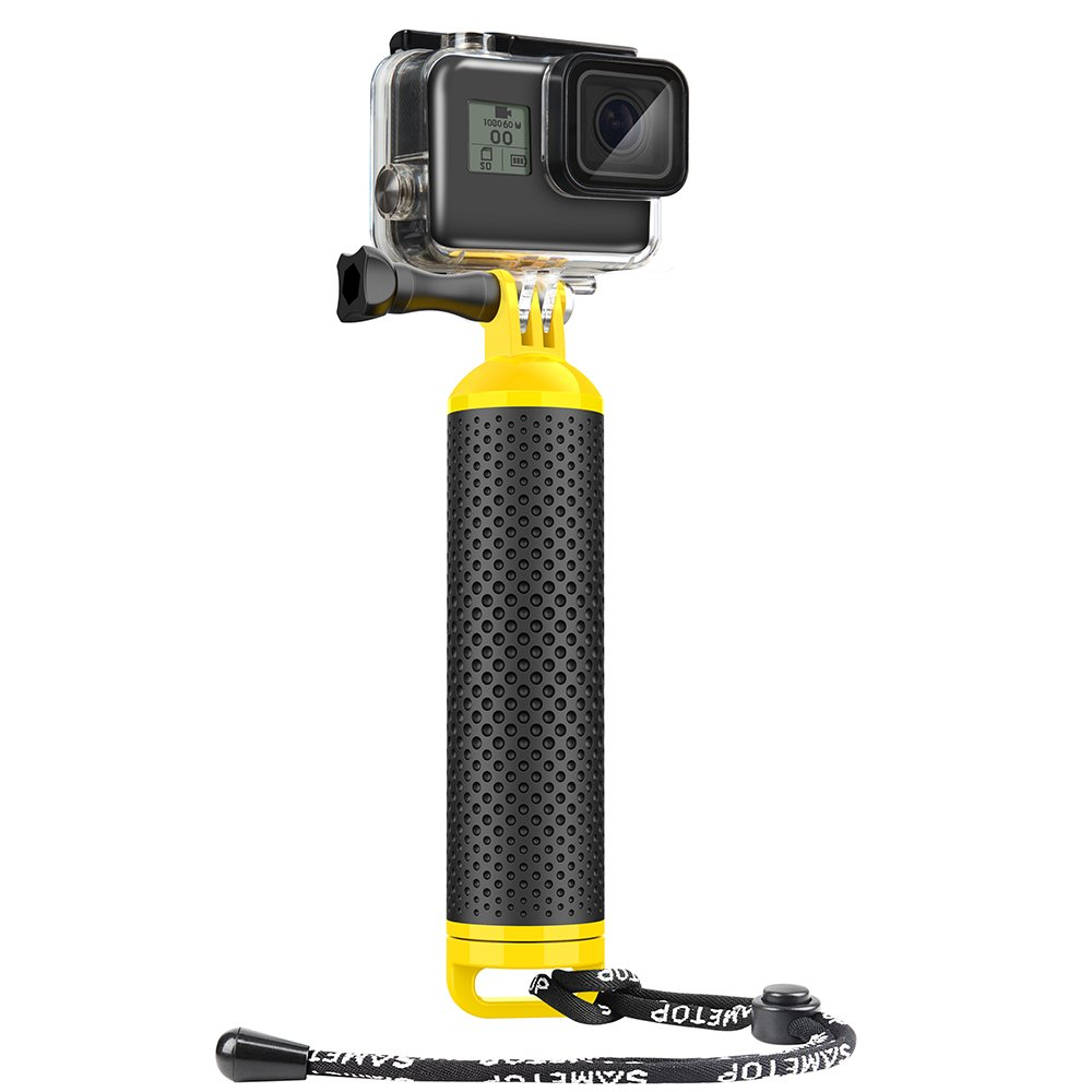 Sametop Waterproof Floating Hand Grip Floaty Handle for GoPro Hero 6, 5, 4, Session, 3+, 3, 2, 1 Cameras