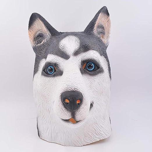 XDDXIAO Máscara de Husky Siberiano, Máscara de Halloween Cubierta ...