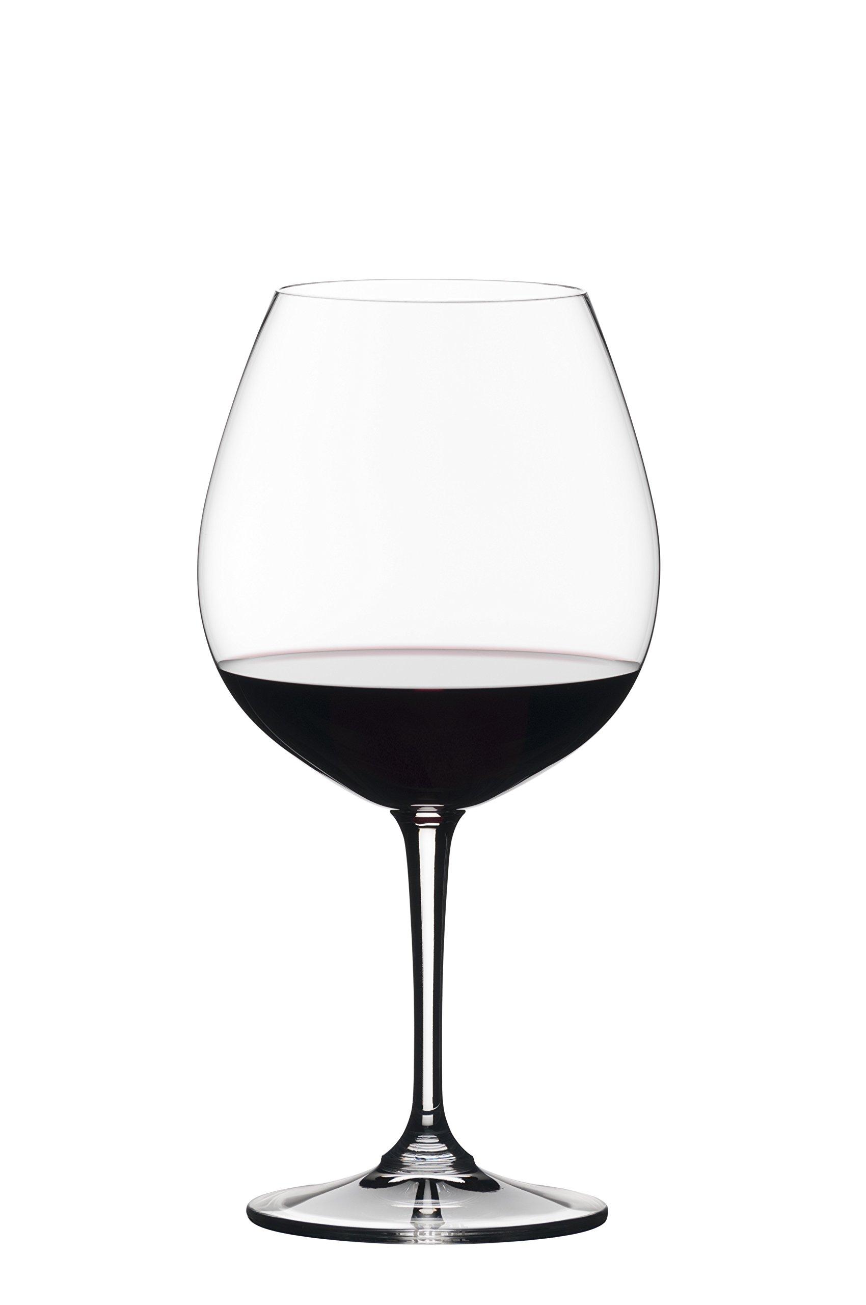 Riedel 0484/07 Vivant Pinot Noir Wine Glass, Set of 4 Clear