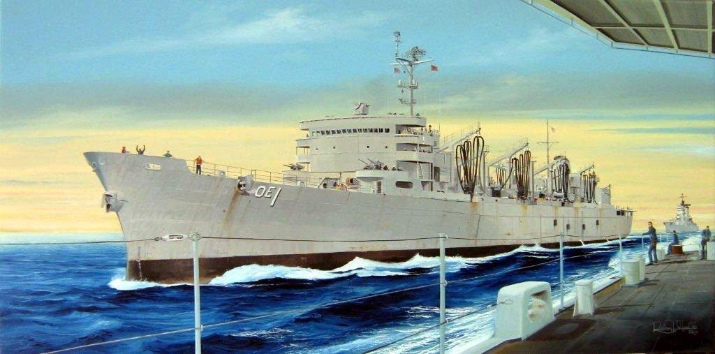 Trumpeter 1/700 USS Sacramento AOE1 Fast Combat Support Ship Model Kit