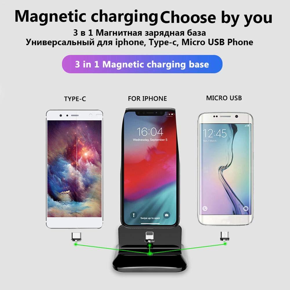 Youngsown 3 in 1 Caricatore Magnetico per Dock per Android Tipo-c Dock di Ricarica Magnetico
