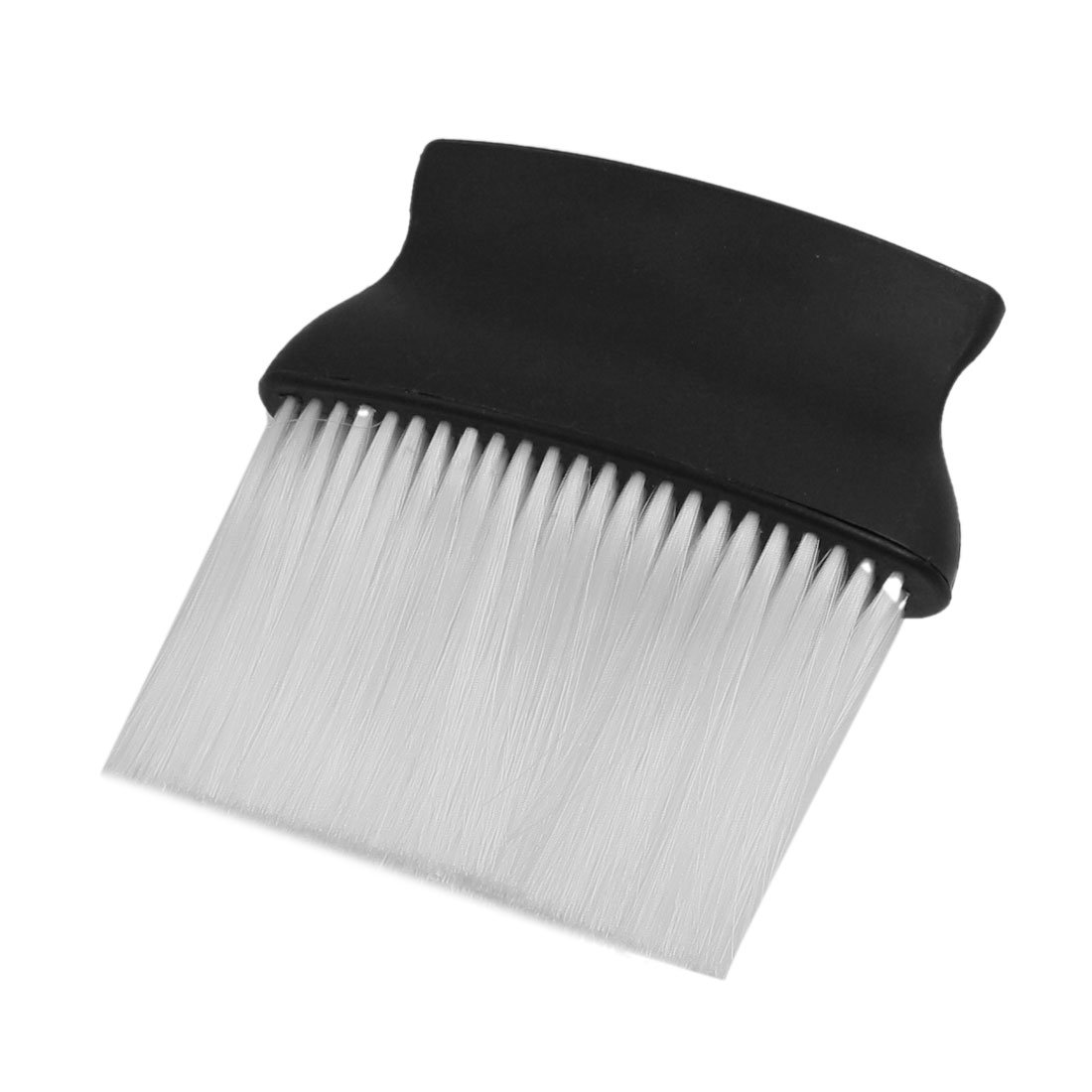 uxcell Plastic Barber Hair Salon Neck Duster Cleaning Brush 12.5 x 12.5 x 2.5cm Black White a12071800ux0416