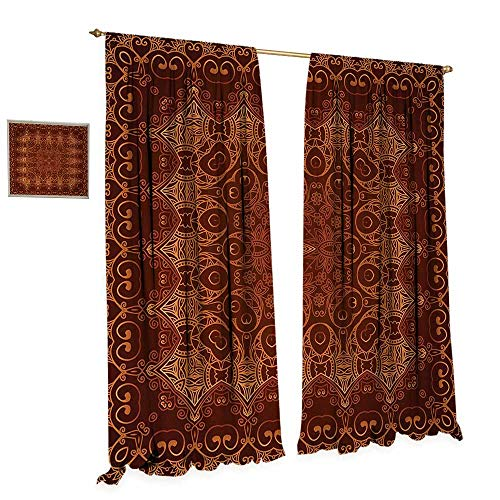 Anniutwo Antique Patterned Drape for Glass Door Vintage Lacy