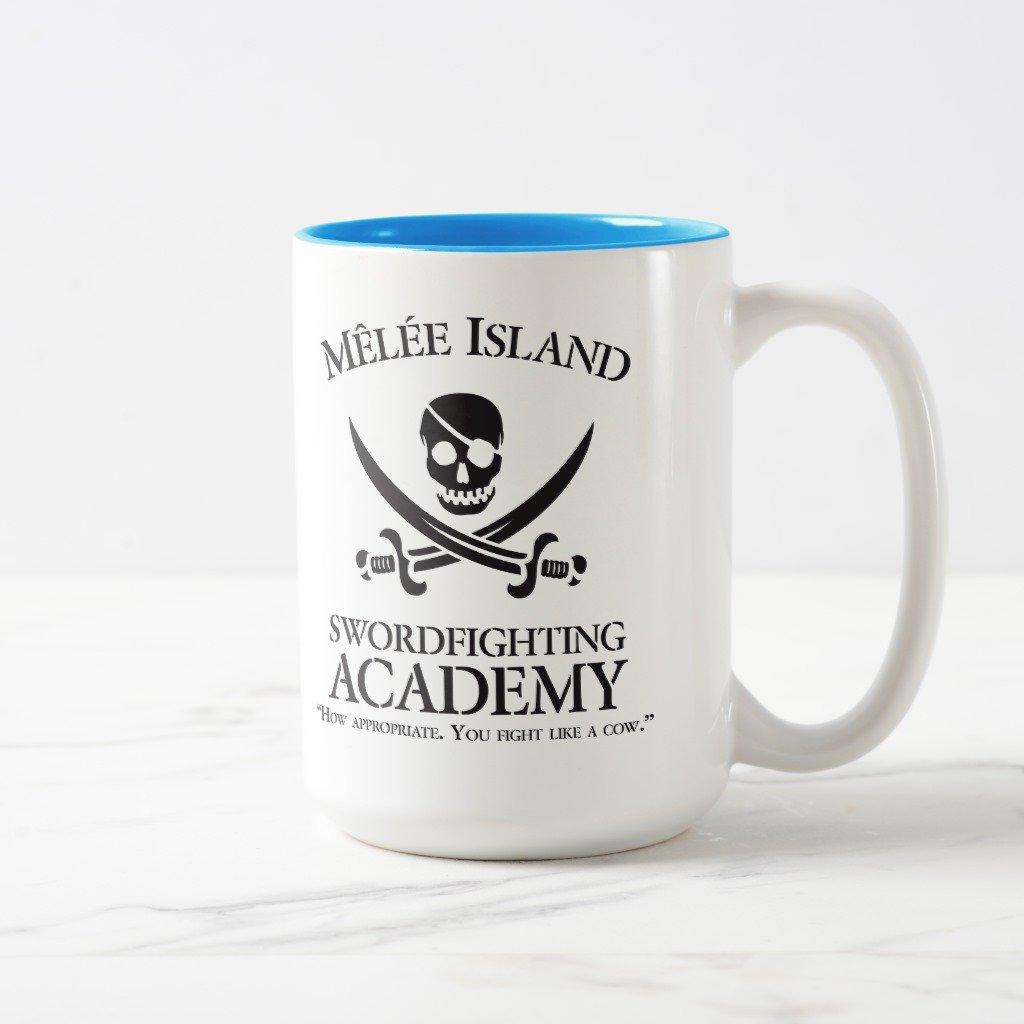 Zazzle Melee島Swordfighting Academyマグ 15 oz, Two-Tone Mug ブルー 33431d4c-9bae-5c94-aece-28707511219f B078BGG1YK  ライトブルー 15 oz, Two-Tone Mug