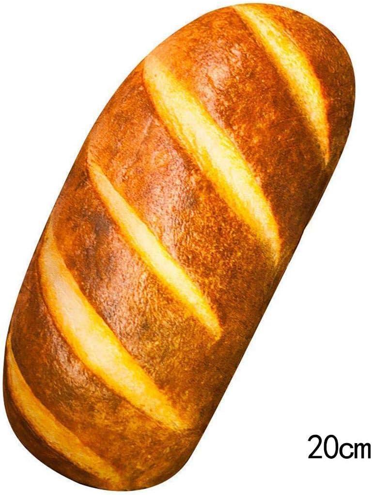 Lanbter 15.7 3D HD Prints Butter Bread Shape Pillow Plush Toys for Home Decor Pillows