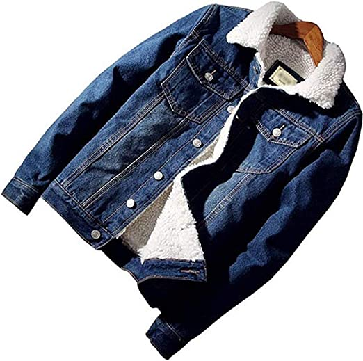 【Y's factory】 メンズファッション ボアデニムジャケット 裏起毛 ボア ジージャン Gジャン 長袖上着 防寒 アウター 冬物 厚手 ジャンパー コート 大きいサイズ 2色