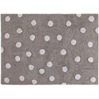 Lorena Canals C-00005 Polka Dots Grey - White - Washable Rugs
