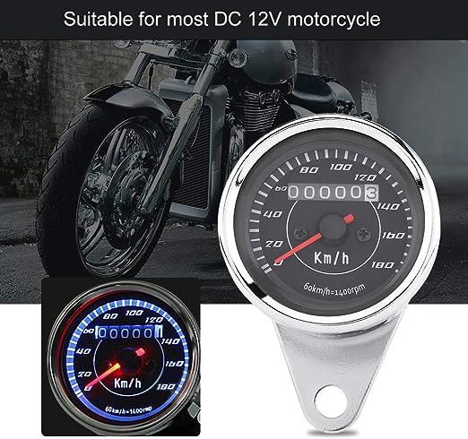 Tachimetro per motocicletta DC 12V Motocicletta 12000 RPM Contachilometri LCD Tachimetro per YBR 125