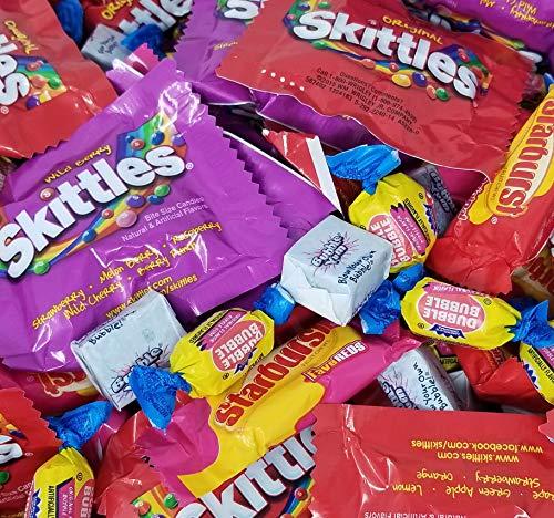 Variety Candy Party Mix Bag- Skittles, Starburst, Bubble Yum Gum, Dubble Bubble Gum, Bulk Candy, 3 lbs -