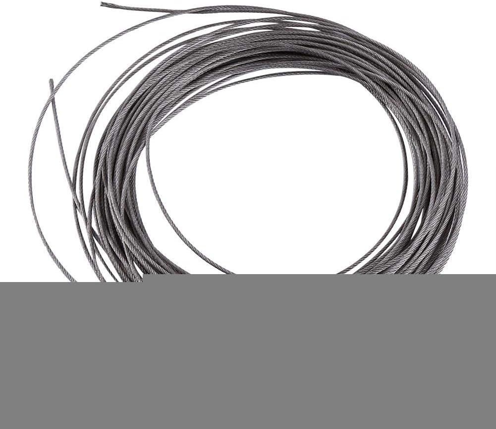 Mumusuki Durable 1pc 15 Metros 304 Cable de Acero Inoxidable Di/ámetro de Cable 1.5mm