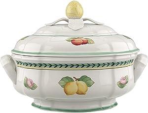 Villeroy & Boch French Garden Fleurence Soup Tureen, 84.5 oz, White/Multicolored