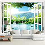 Ohcde Dheark Large Murals, Living Room, Tv Backdrop, 3D Wallpaper, Waterproof Sofa, Background Wallpaper, European Seamless Landscape Painting,250Cmx175Cm(98.4 By 68.9 In )